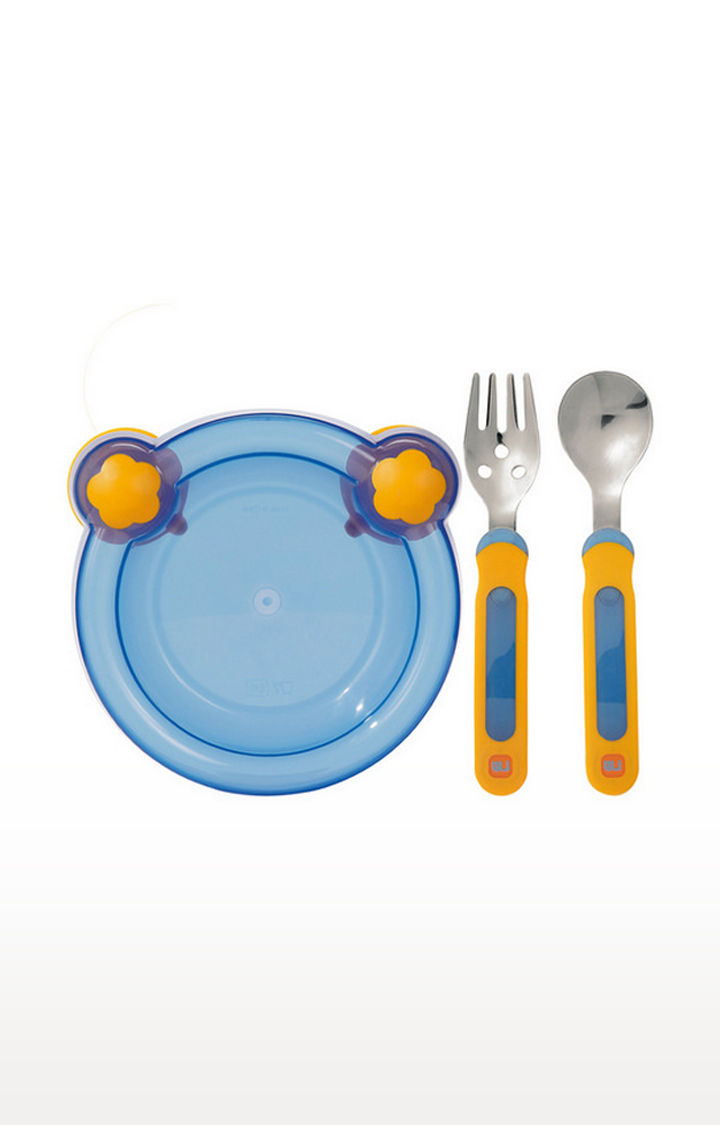 Mothercare   Mothercare Tiny Dining Suction Plate With Cutlery