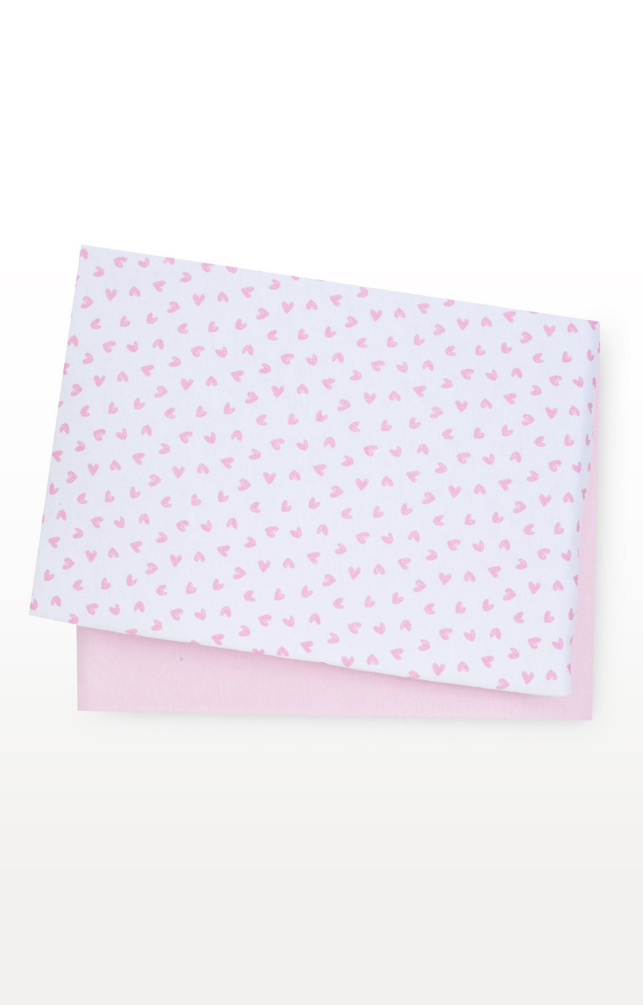 Mothercare | Pink Essential Cotton Bedside Crib Fitted Sheets - Pack of 2