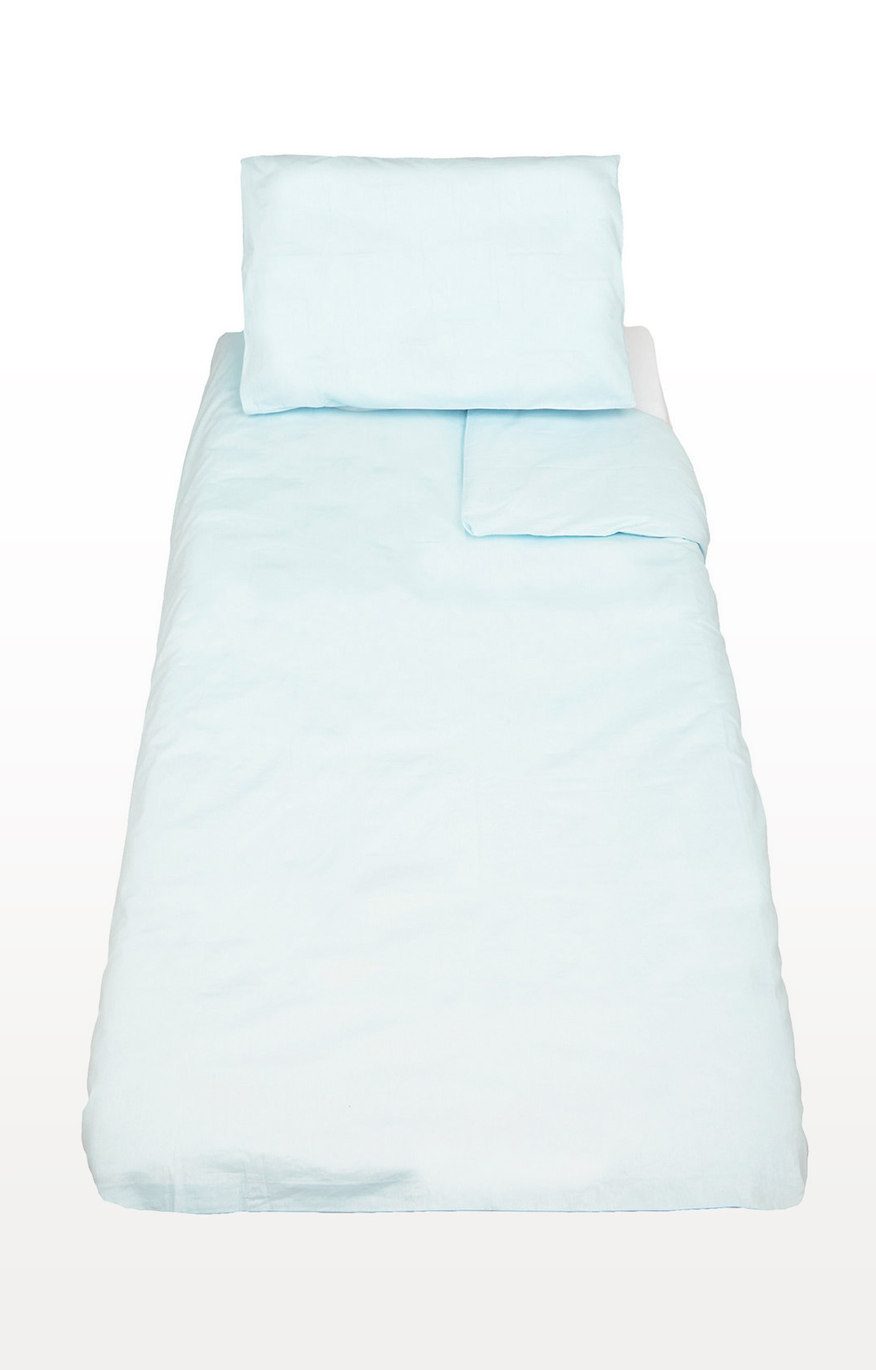 Mothercare   Blue Cotton-Rich Cot Bed Duvet And Pillowcase Set