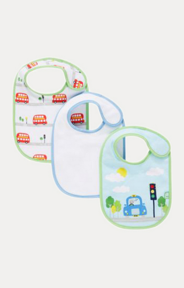 Mothercare | White and Blue Feeding Bibs