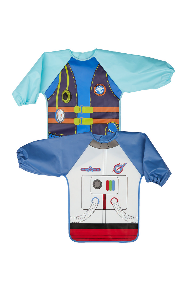 Mothercare   Multicoloured Diver And Astronaut Dress Up Coverall Bib