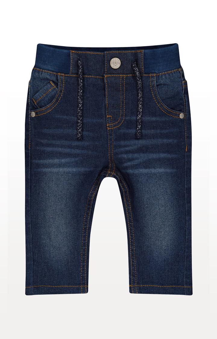 Mothercare | Dark-Wash Rib Waist Jeans