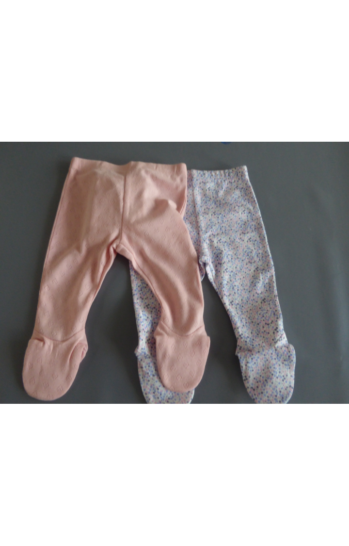 Mothercare   Peach and Blue Printed Trousers - Pack of 2