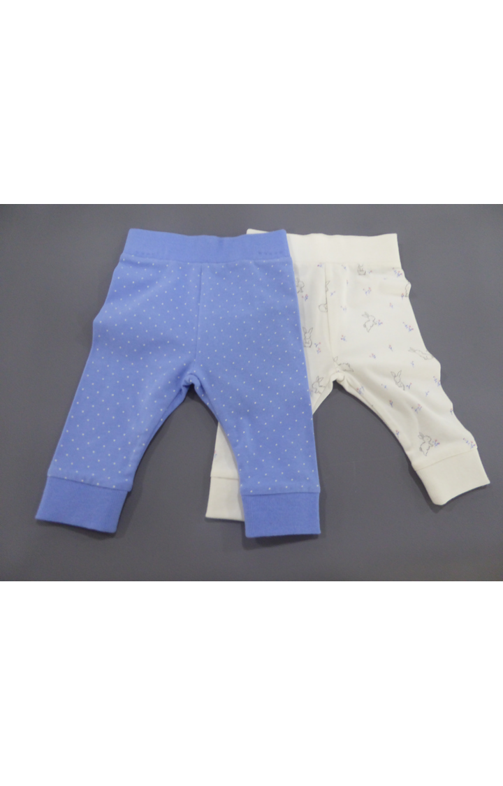 Mothercare | Blue and White Printed Joggers - Pack of 2