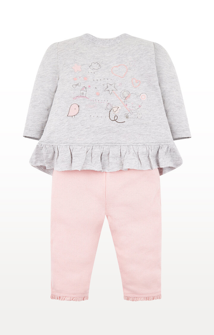 Mothercare   My First Fairy Wishes Grey T-Shirt and Ribbed Leggings Set