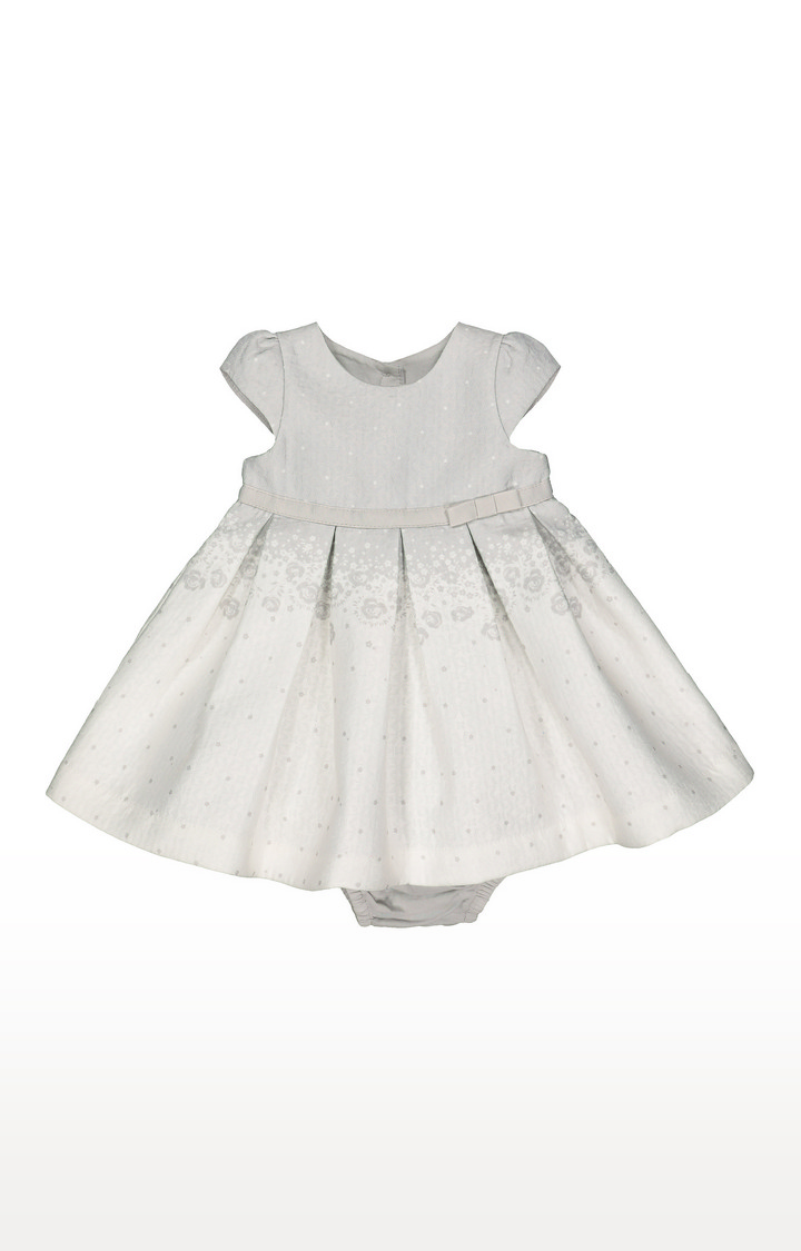 Mothercare | White and Grey Printed Dress