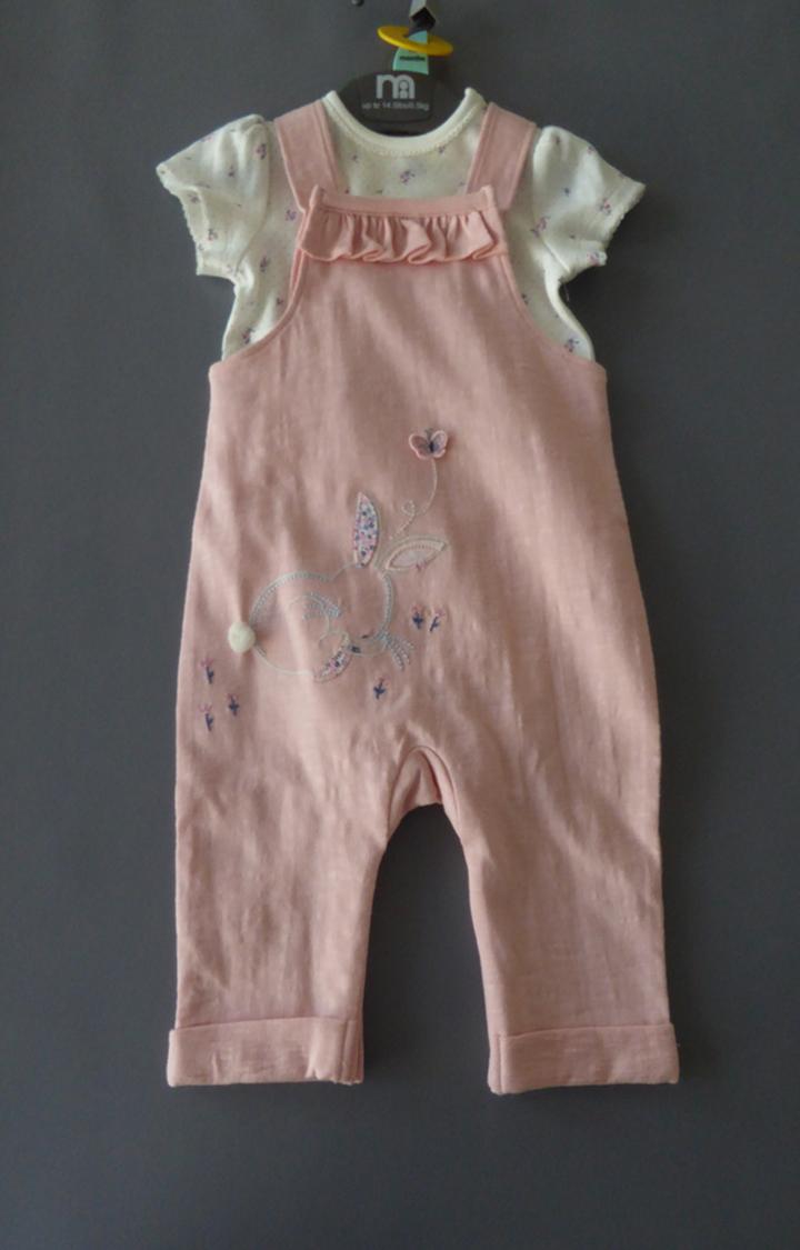 Mothercare   Pink Printed Dungaree