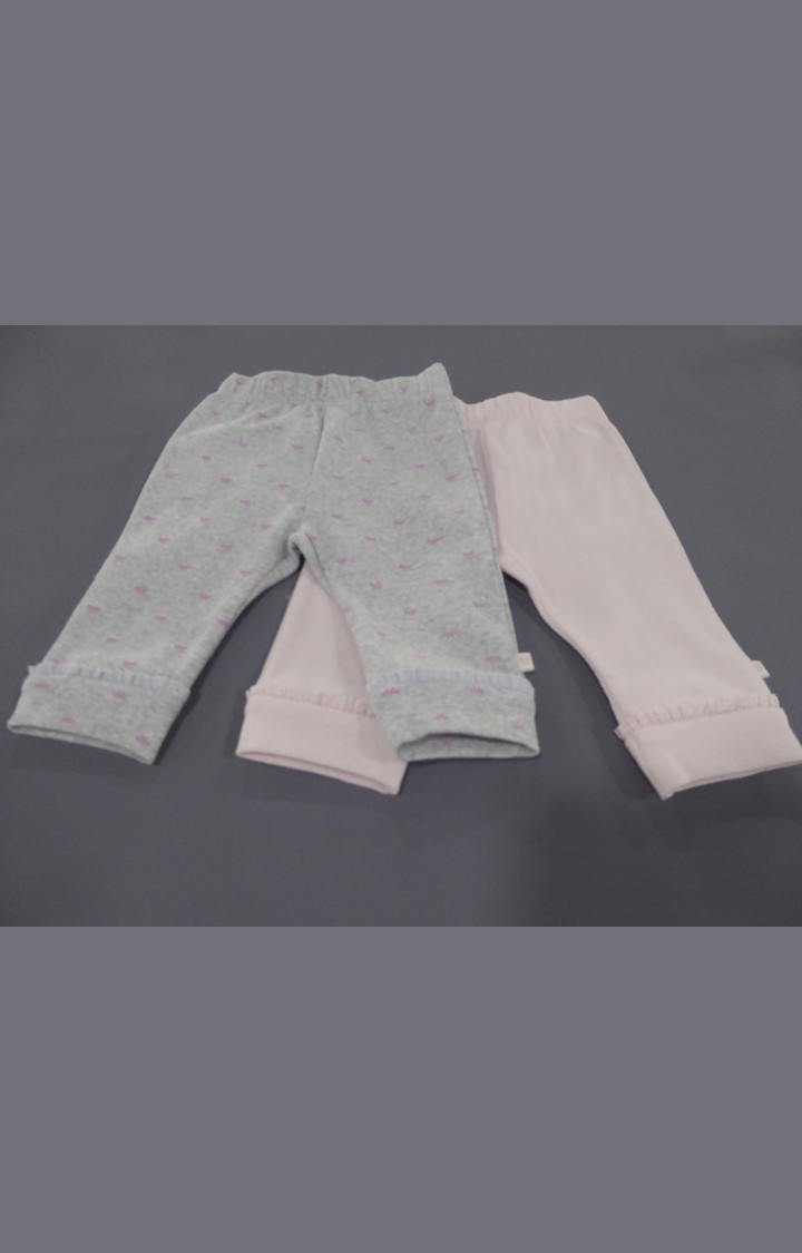 Mothercare | Pink and Grey Printed Pants