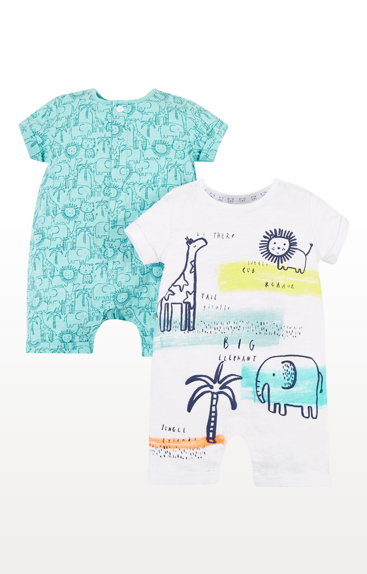 Mothercare | Jungle Rompers 2 Pack