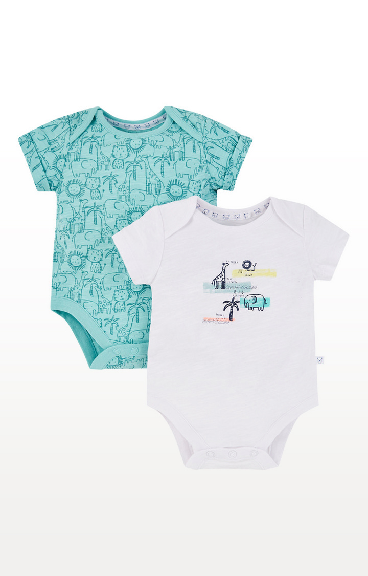 Mothercare | Jungle Animals Bodysuits 2 Pack