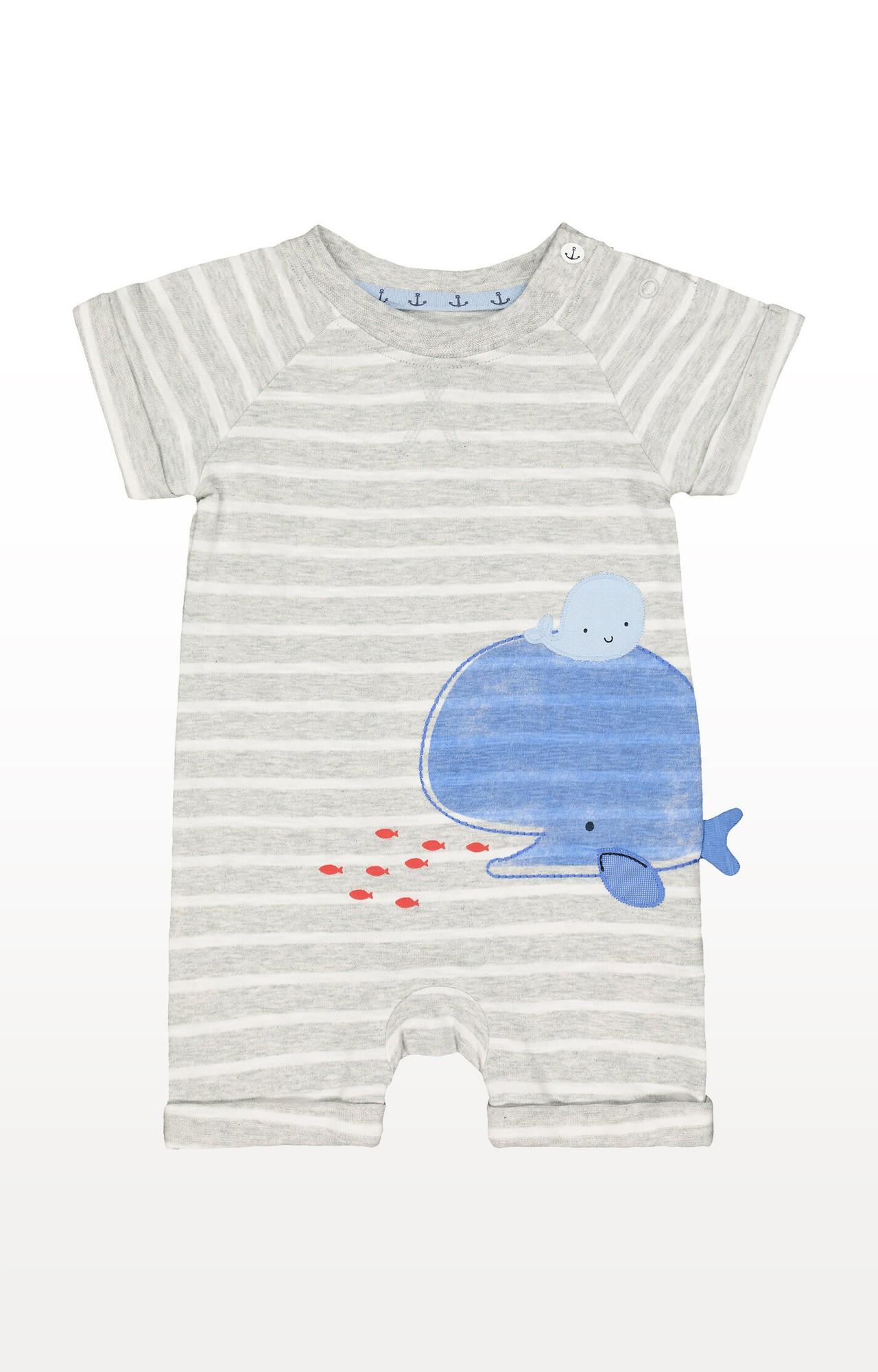 Mothercare | Grey Stripe Whale Romper