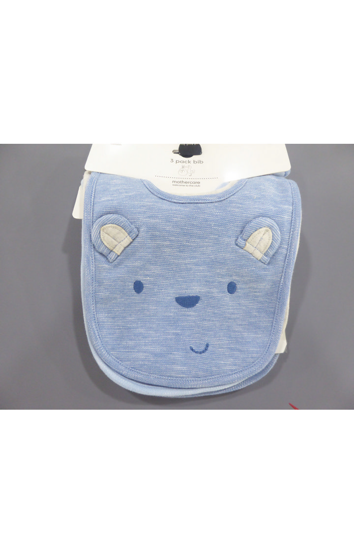 Mothercare   Blue Printed Bibs - Pack of 3