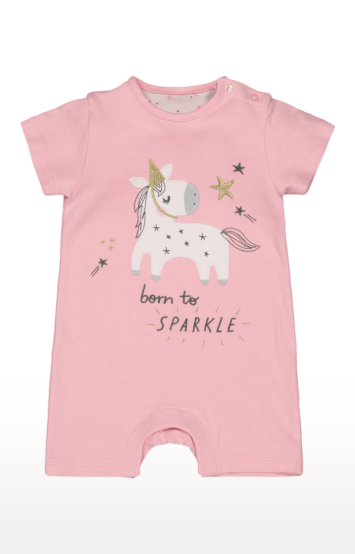 Mothercare   Pink Printed Romper
