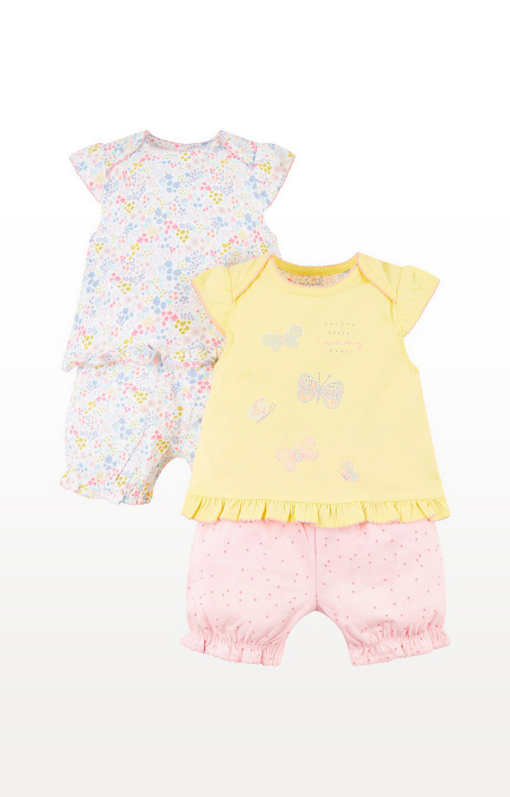 Mothercare   Summer And Floral Shortie Pyjamas  2 Pack
