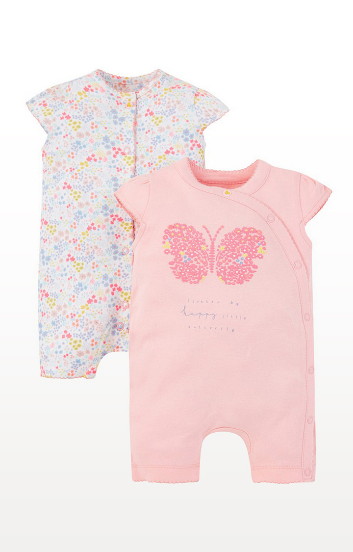 Mothercare | Summer Butterfly And Floral Rompers -2 Pack