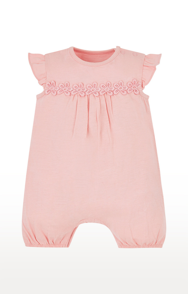 Mothercare | Pink Solid Romper