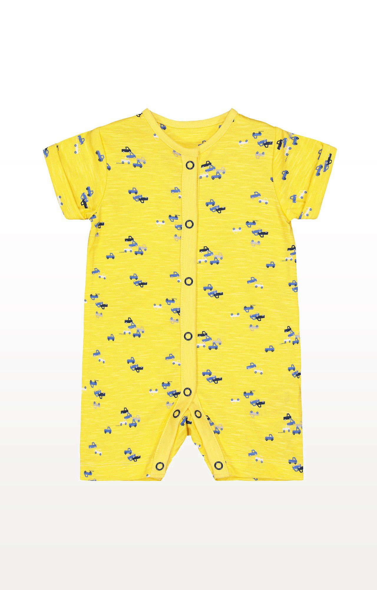 Mothercare | Yellow Printed Cars Romper