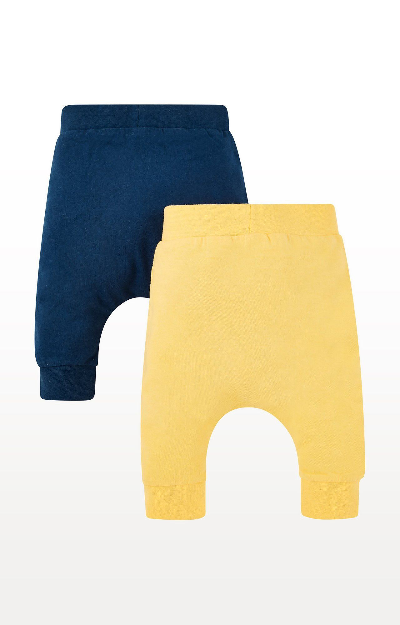 Mothercare | Blue and Yellow Printed Joggers -- Pack of 2
