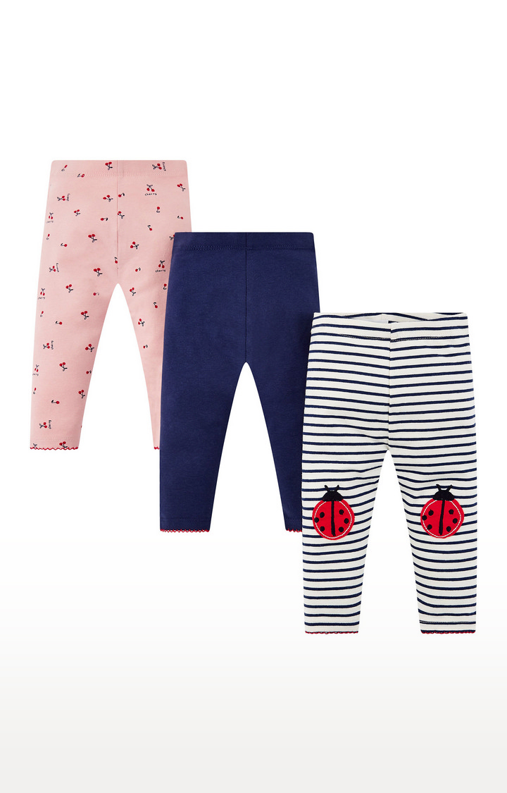Mothercare   Multicoloured Printed Trousers - Pack of 3