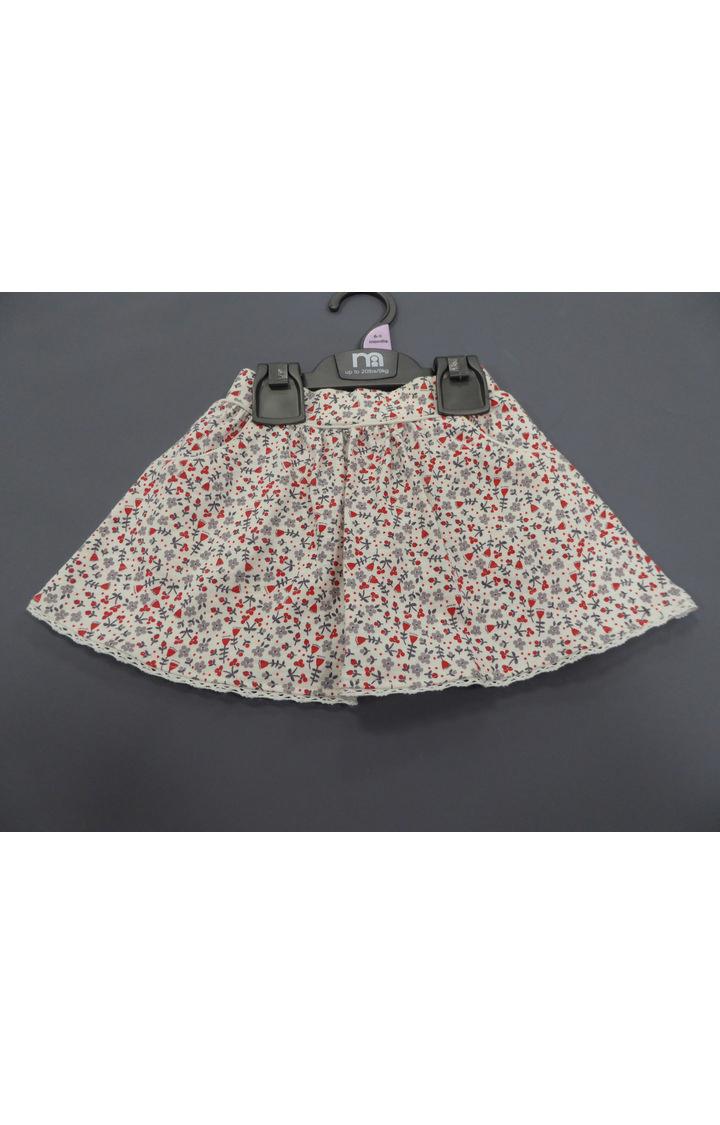 Mothercare | White Printed Skirt