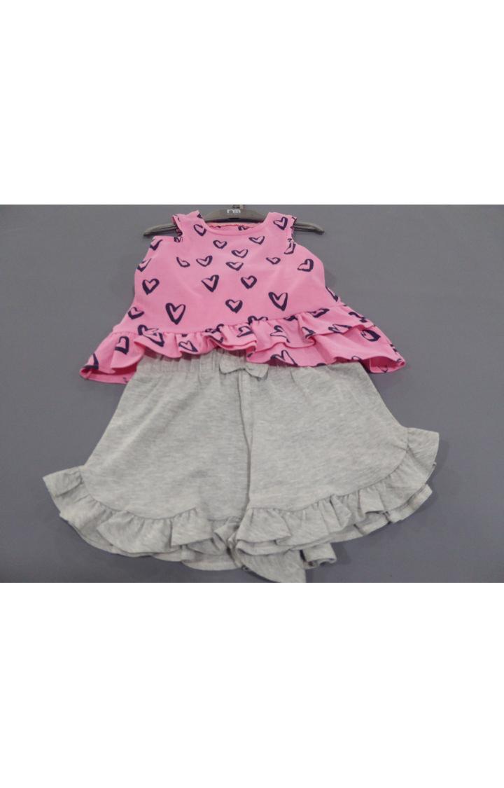 Mothercare   Pink & Grey Printed Twin Set