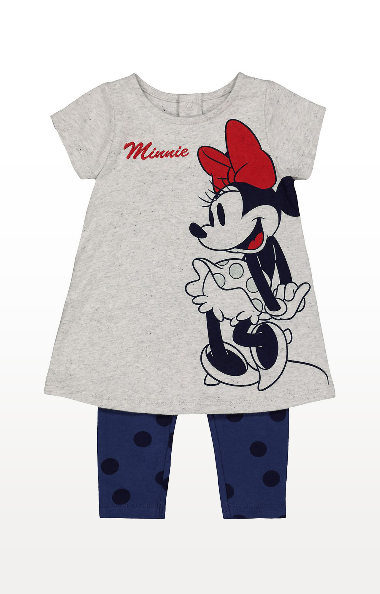 Mothercare | Grey Printed Disney Minnie Tunic and Leggings Set