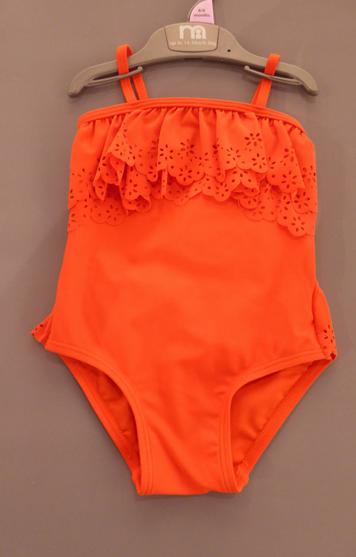 Mothercare | Orange Solid Swimwear