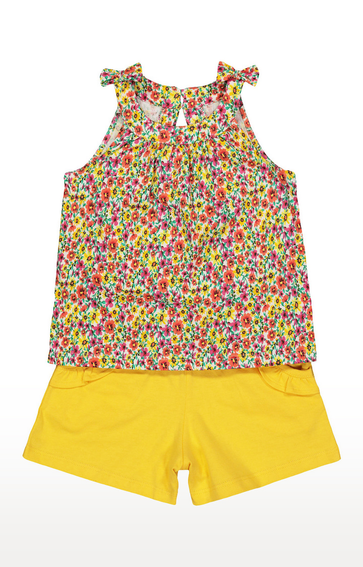 Mothercare | Yellow & Red Printed Twin Set