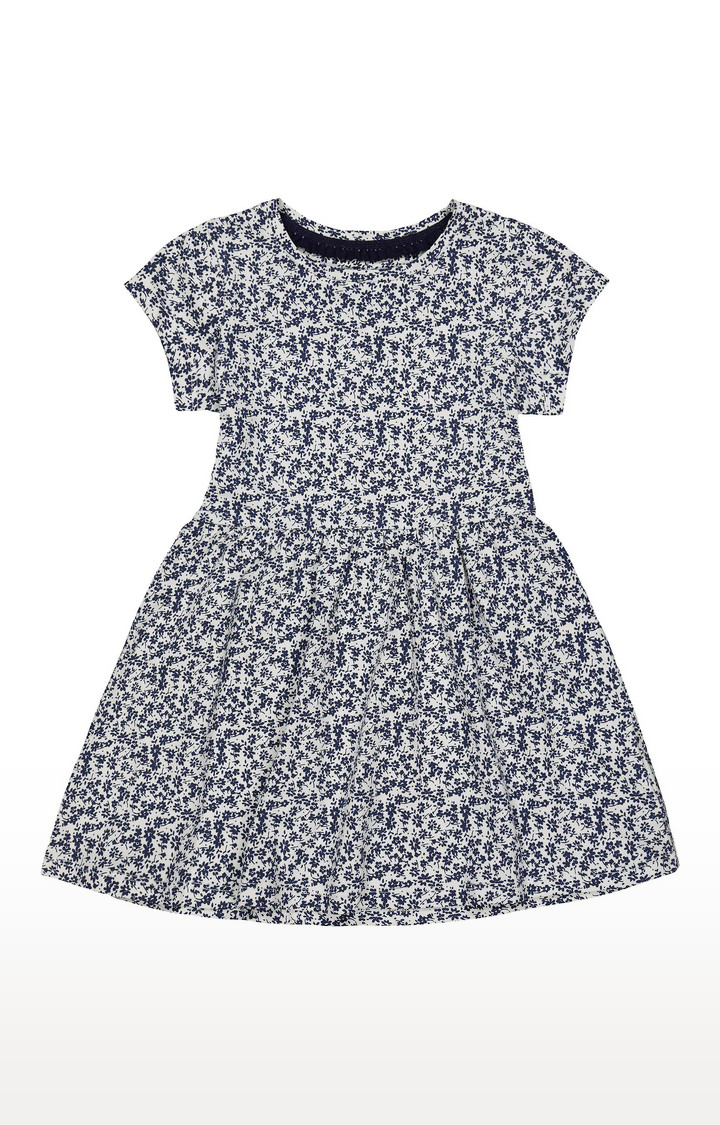Mothercare | White and Blue Printed Dress