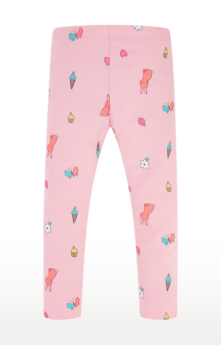 Mothercare   Pink Printed Trousers