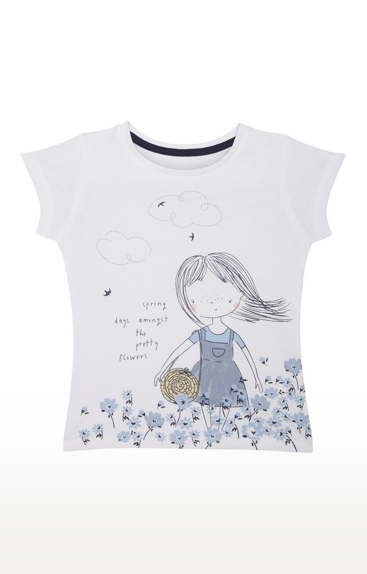Mothercare   Off White Printed Top