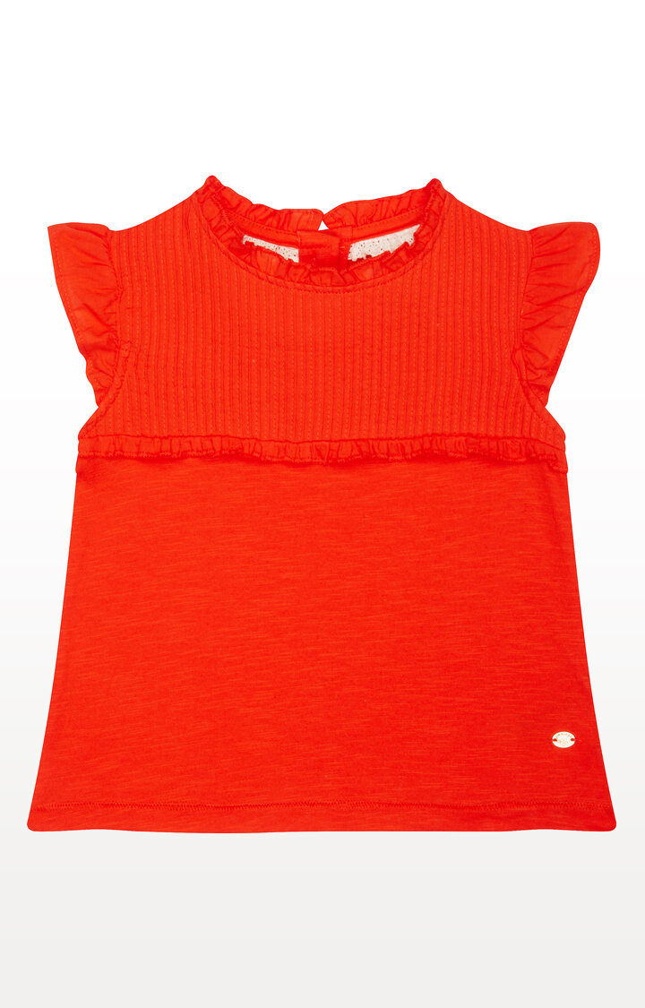 Mothercare | Coral Pleated T-Shirt