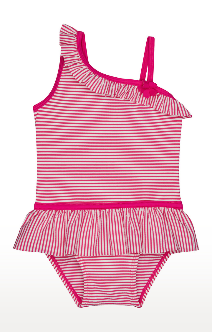 Mothercare | Pink Striped Swimwear