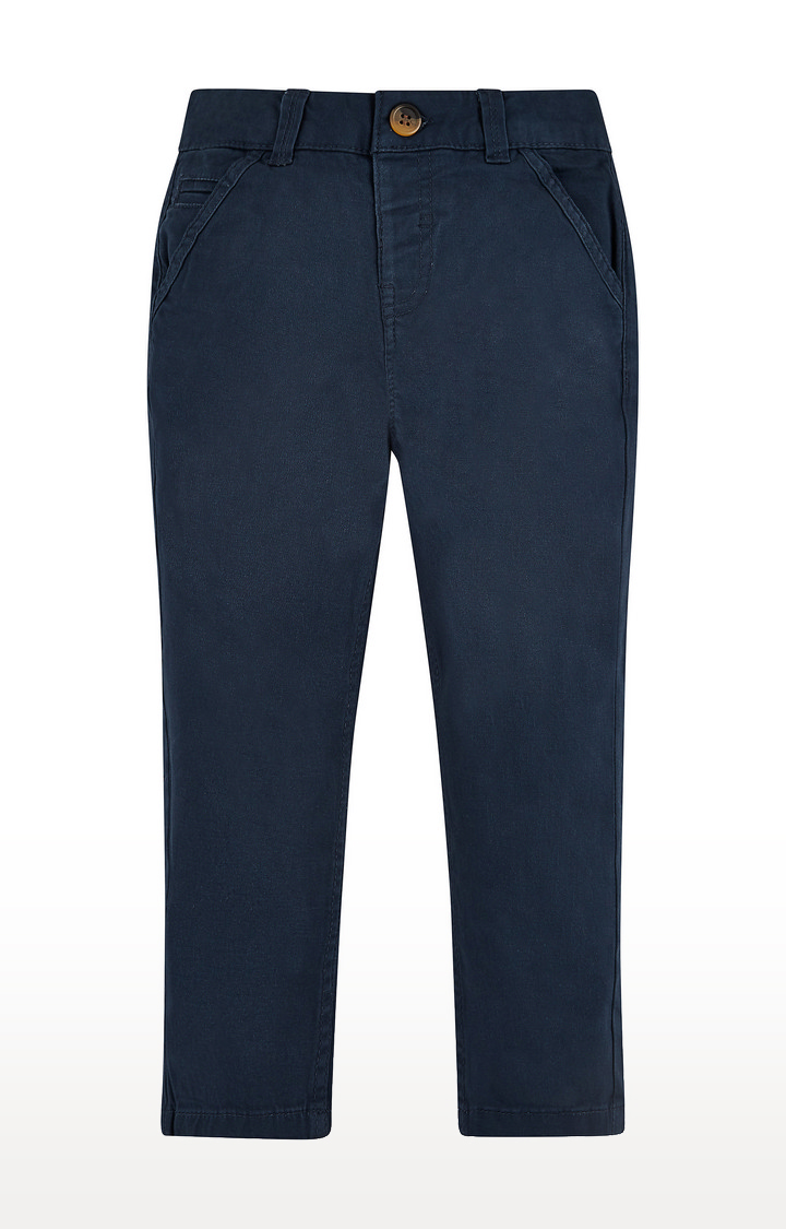 Mothercare   Blue Solid Trousers