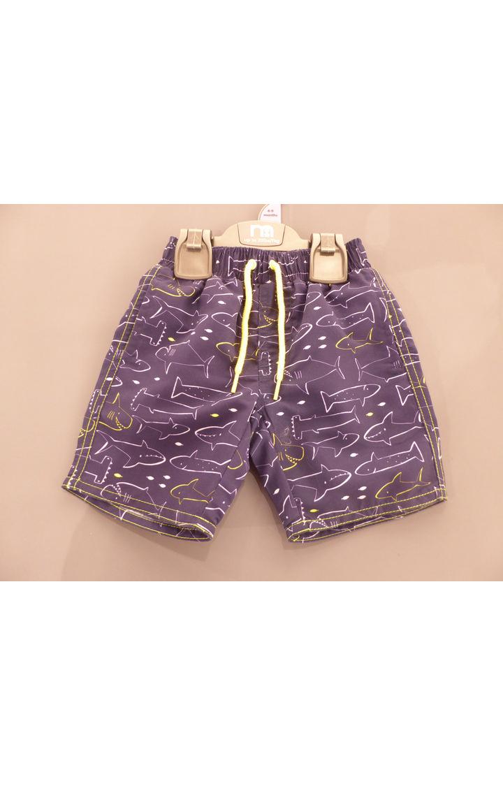 Mothercare | Blue Printed Beachwear Shorts