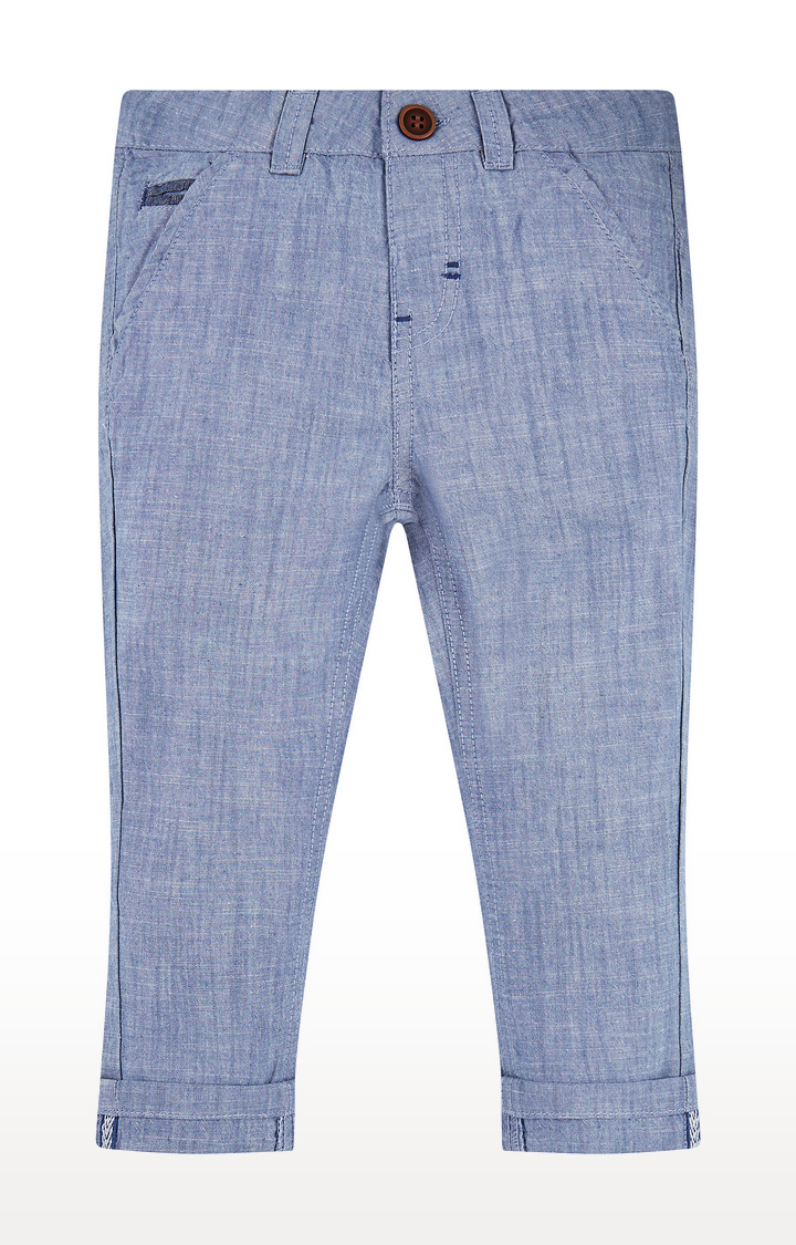 Mothercare | Blue Melange Trousers