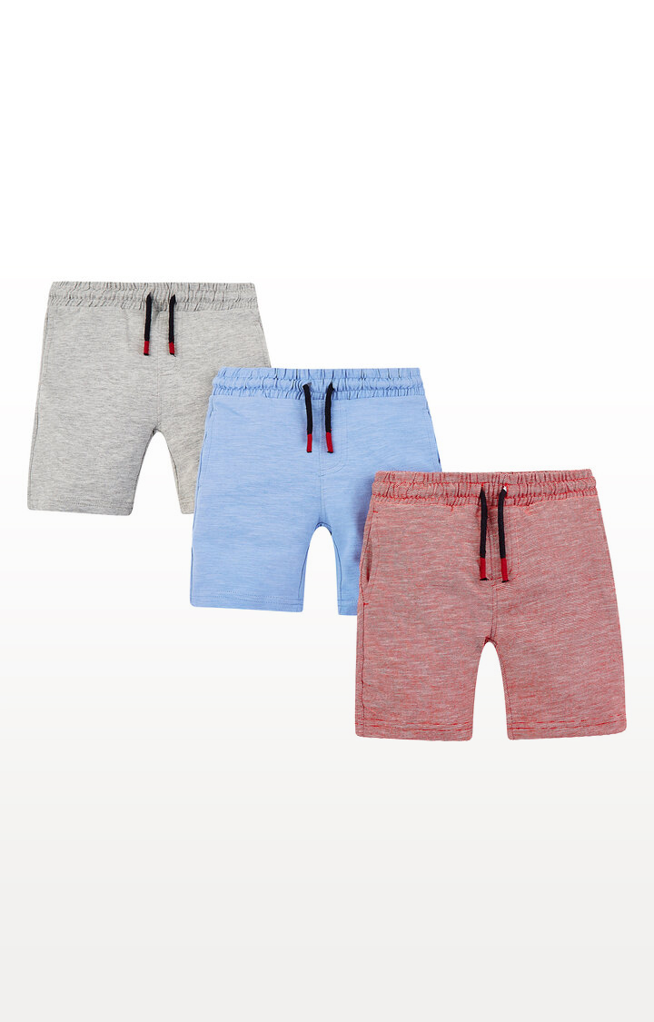 Mothercare | Red, Grey and Blue Shorts - Pack of 3