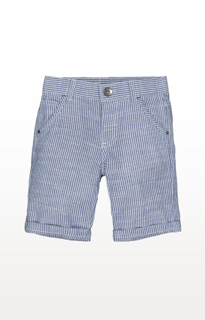 Mothercare | Blue Texture Stripe Shorts