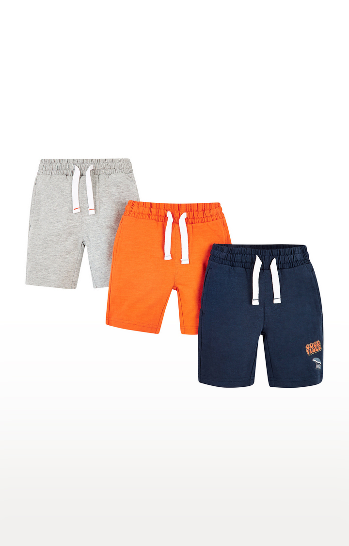Mothercare | Multicoloured Solid Shorts  - Pack of 3