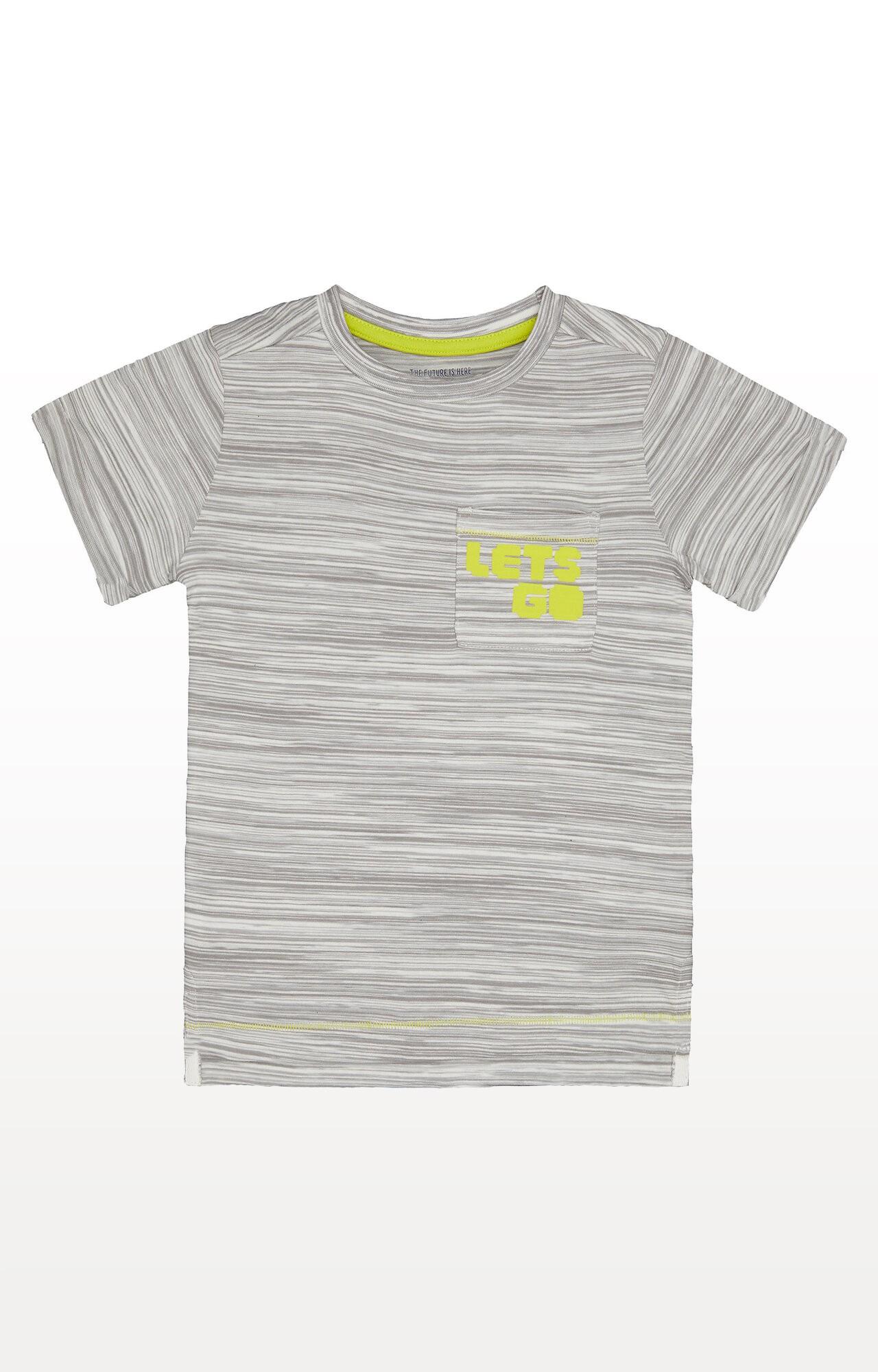 Mothercare | Grey Stripe Lets Go T-Shirt