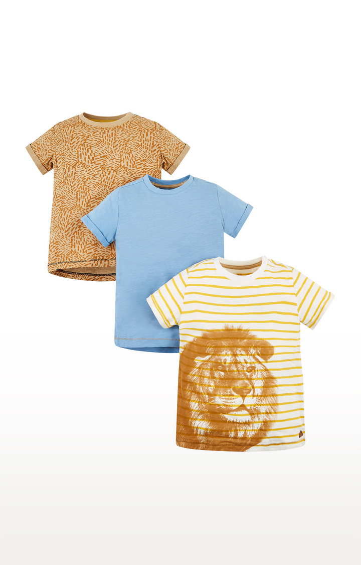 Mothercare | Multicoloured Striped T-Shirt  - Pack of 3