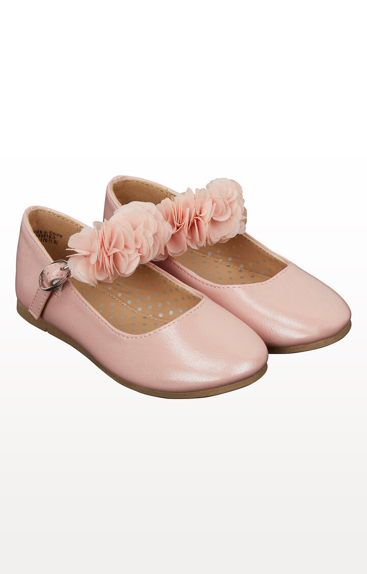 Mothercare | Pink Flower Ballerina Shoes