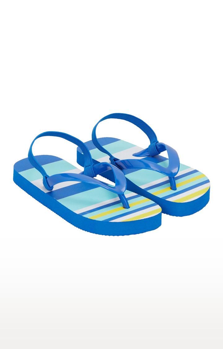 Mothercare | Blue Stripe Flip Flops
