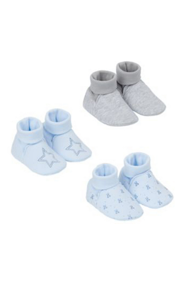 Mothercare | Blue and Grey Casual Slip-ons - Set of 3
