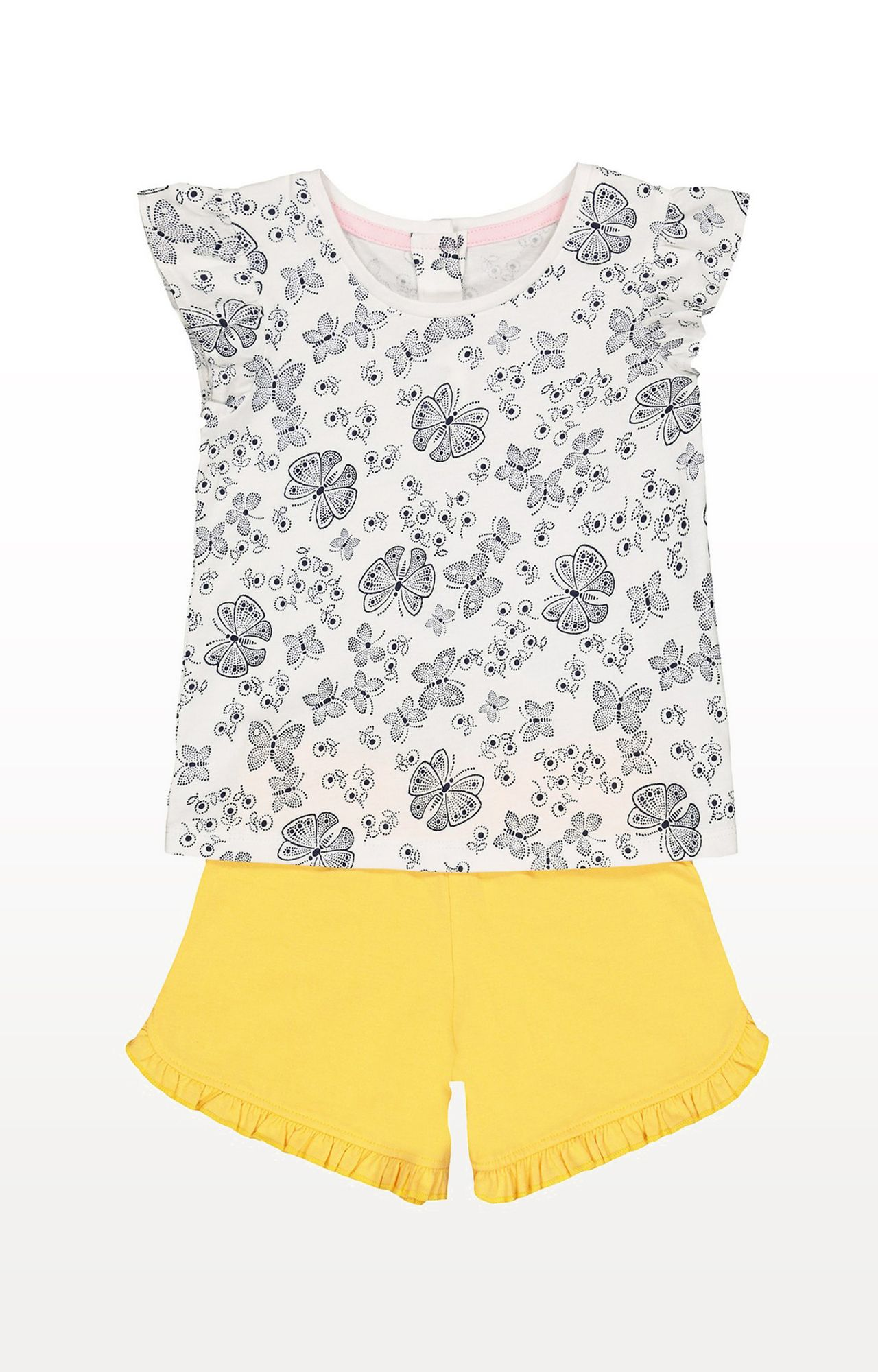 Mothercare | Multicoloured Printed Butterfly T-Shirt and Shorts Set