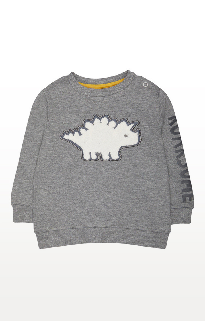 Mothercare | Grey Roarsome Dinosaur Sweat Top