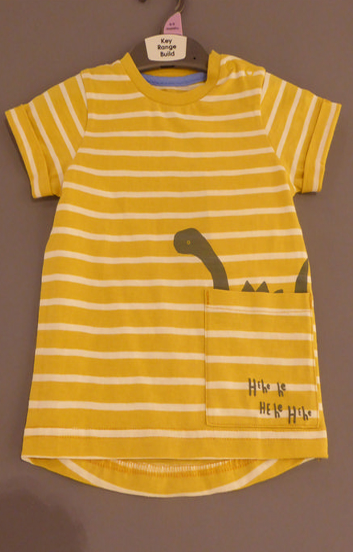 Mothercare   Yellow Striped T-Shirt
