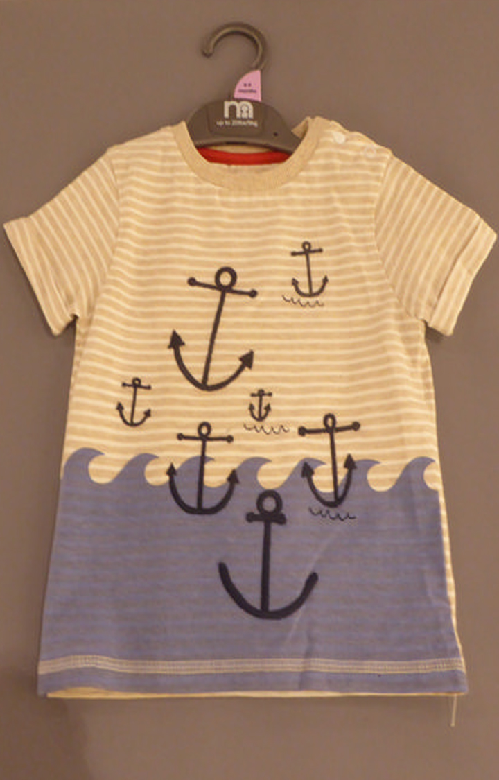 Mothercare   Off White Printed T-Shirt