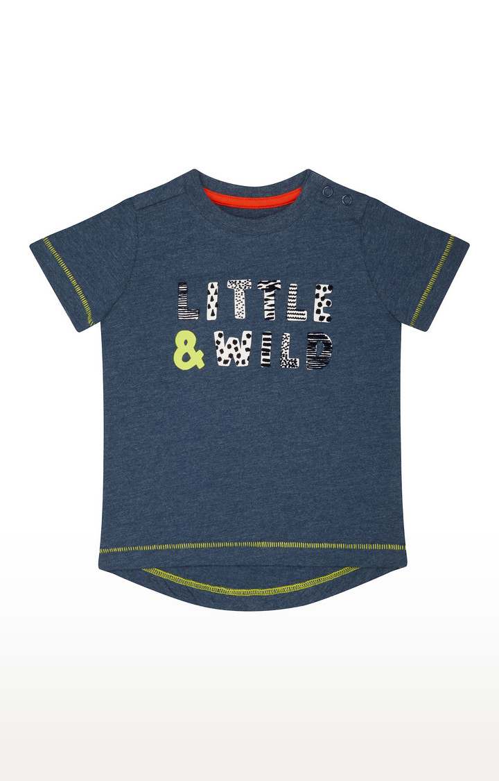 Mothercare   Blue Printed T-Shirt