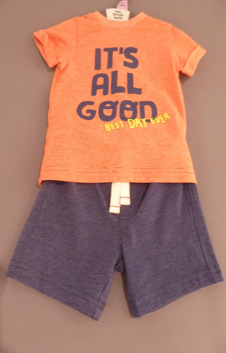 Mothercare | Orange Printed Twin Set